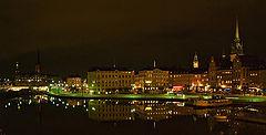 """фото """"небольшая ночная панорама старого Стокгольма"""""""