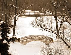 """photo """"Winter bridge"""""""