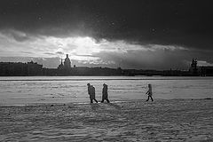фото По первому снегу января