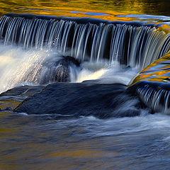 """photo """"Autumn Waterfall Splash"""""""