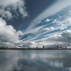 "фото ""Небо и вода Кирилло Белозерского монастыря"""