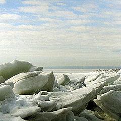 "фото ""Картинка про лёд на заливе"""