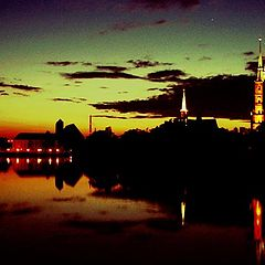 "photo ""The sunset over the Odra river"""