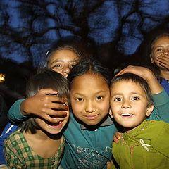 "фото ""Street kids a dusk"""