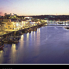 "photo ""Tavira, its fish Harbour and the Gilao River"""