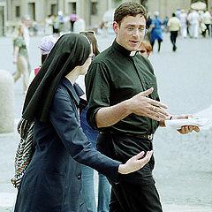 """фото """"Talking. Vatican`s people."""""""