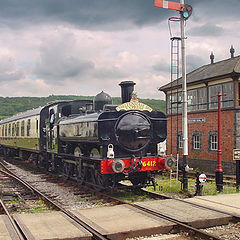 "фото ""Stormy Rail Scene"""