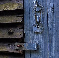"""photo """"Blue door"""""""