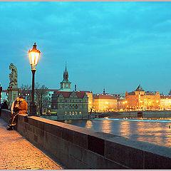 """photo """"Charles Bridge at night."""""""