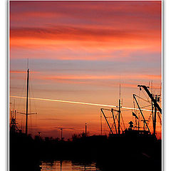 """photo """"Sunset in a harbour - 7"""""""
