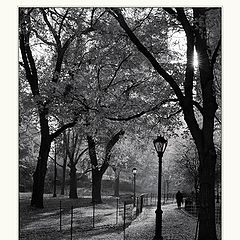 """photo """"Past and Present (Central Park NY)"""""""