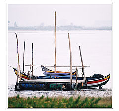 "фото ""The Boats rides at anchor in the Roadstead"""