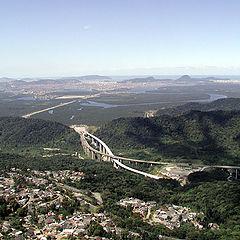 """фото """"View of Santos city-Sao Paulo Brasil"""""""