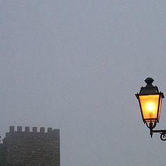"photo ""Castle in fog night"""