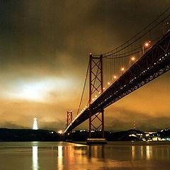 """фото """"Bridge on the river Tejo-Lisbon"""""""