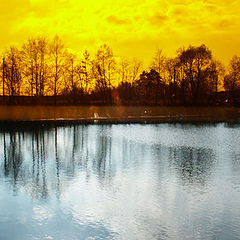 "photo ""It is yellow - Dark blue"""