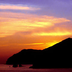 """photo """"A sunset in the mountain of Arrabida"""""""