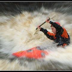 "фото ""Canoeist at Sligo zoomed"""