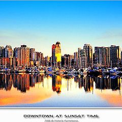 "photo ""Downtown at sunset time"""