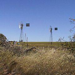 "фото ""Windmills out of Geraldton W.Australia"""