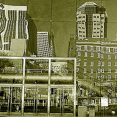 """photo """"Mirrors of Downtown"""""""