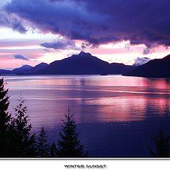 "photo ""Winter sunset"""