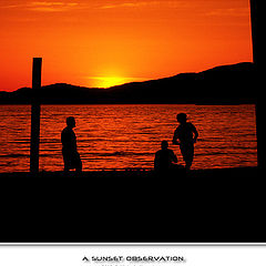 "photo ""A sunset observation"""
