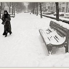 """фото """"Этюд в снежную погоду"""""""