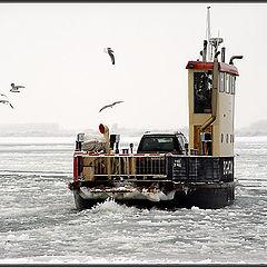"photo ""ferry in mist"""