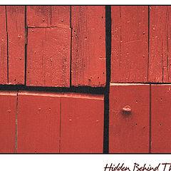 """photo """"Hidden Behind The Door"""""""