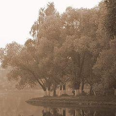 "фото ""Озеро в дымке"""