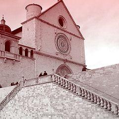 "фото ""Assisi, San Francesco Church (Italy)"""