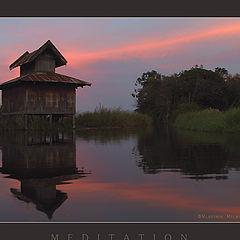 """фото """"Дом для медитаций на озере Инле..."""""""