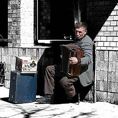 """photo """"Music of our streets. Accordion."""""""