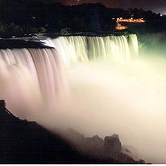 """photo """"Niagara Falls at night"""""""