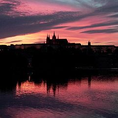 "фото ""Infernal sunset in Prague"""