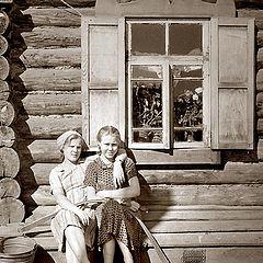 "photo ""Two girlfriends under window..."""