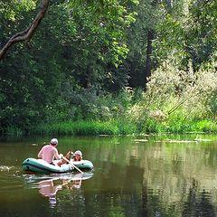 """фото """"Трое в лодке, считая собаку :)"""""""
