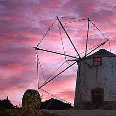 "photo ""Mill at sunset"""