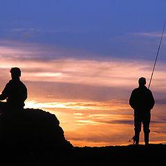 """photo """"Ioga and fishing"""""""