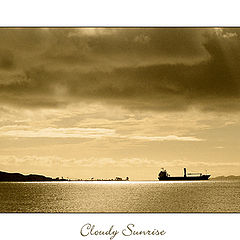 "photo ""cloudy sunrise"""