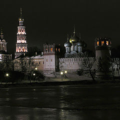 """фото """"Москва. Ночь. Новодевичий."""""""