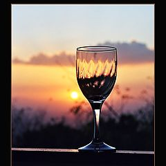 "photo ""The Glass of Sunset"""