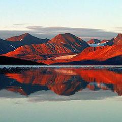 "фото ""Spitsbergen fjord reflection"""