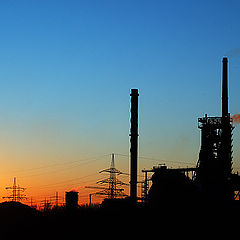 "photo ""industrial sunset"""