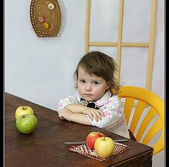 "фото ""Девочка с яблоками."""