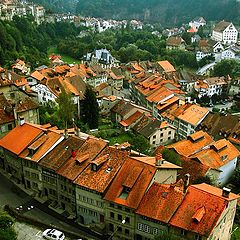 """фото """"Красные крыши Швейцарии"""""""