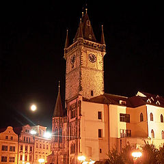 "фото ""Night... Moon... Prague..."""