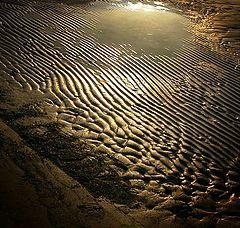 "фото ""The sea-sand and slanting beam of light"""