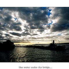"photo ""like water under the bridge"""